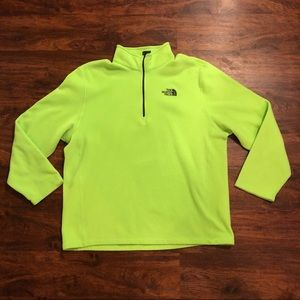 Bright neon North Face